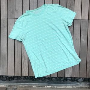Calvin Klein | Classic Fit Green White Striped Top